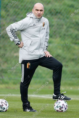 Belgium's head coach Roberto Martinez pictured during a training session of the Belgian national team Red Devils, Friday 26 March 2021 in Tubize, ahead of the World Cup 2022 qualification match against Czech Republic.