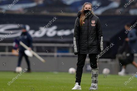 Lisa Evans  of Arsenal Women after the WomenÕs Super League match between Tottenham Hotspur Women and Arsenal Women at The Tottenham Hotspur Stadium in London - 28th March 2021