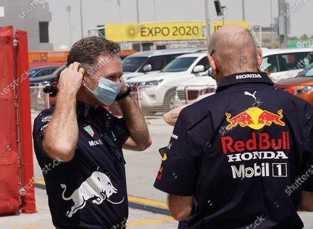 Team boss Christian Horner (Red Bull Racing Honda), Adrian Newey (Leiter von Red Bull Technology)