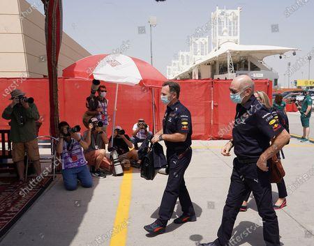 Stock Image of Team boss Christian Horner (Red Bull Racing Honda), Adrian Newey (Leiter von Red Bull Technology)