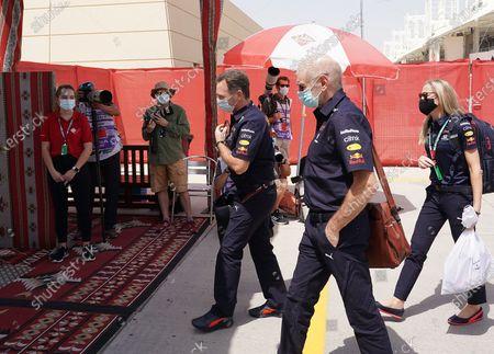 Stock Picture of Team boss Christian Horner (Red Bull Racing Honda), Adrian Newey (Leiter von Red Bull Technology)