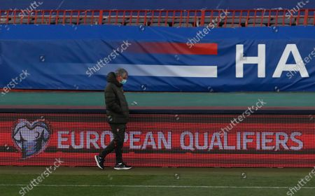 Portugal coach Fernando Santos supervises a training session prior to the World Cup 2022 group A qualifying soccer match between Serbia and Portugal at the Rajko Mitic stadium in Belgrade, Serbia, . Serbia will play against Portugal on Saturday evening