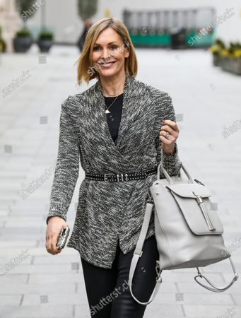 Jenni Falconer is seen departing from her Smooth FM show at the Global Radio Studio.