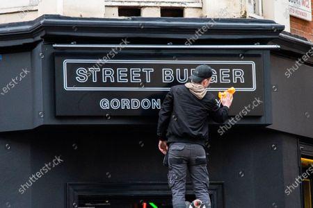 Editorial image of Gordon Ramsay Street Burger, London, United Kingdom - 26 Mar 2021
