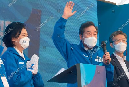 Editorial image of Campaign of South Korean ruling Democratic Party's Seoul mayoral candidate Park Young-Sun in Seoul, Seoul, South Korea - 25 Mar 2021