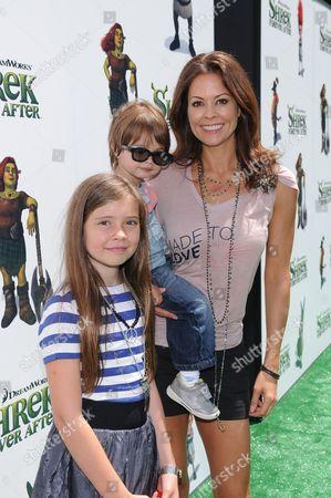 Brooke Burke with daughter Neriah and son Shaya