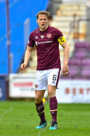 Christophe Berra (#6) of Heart of Midlothian FC during the SPFL Championship match between Heart of Midlothian and Queen of the South at Tynecastle Park, Edinburgh