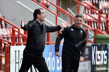 Salford City manager Gary Bowyer reacts during the EFL Sky Bet League 2 match between Exeter City and Salford City at St James' Park, Exeter