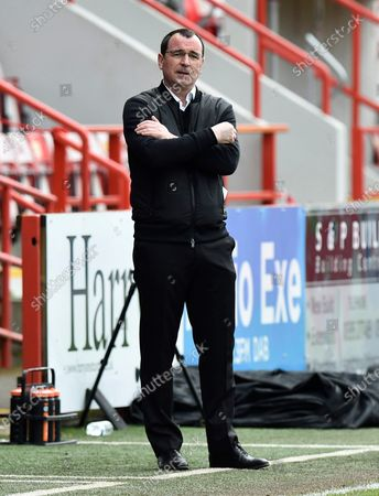 Salford City manager Gary Bowyer during the EFL Sky Bet League 2 match between Exeter City and Salford City at St James' Park, Exeter