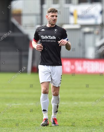 Ashley Eastham (5) of Salford City during the EFL Sky Bet League 2 match between Exeter City and Salford City at St James' Park, Exeter
