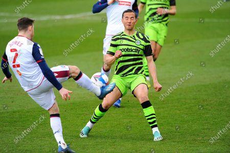 Kane Wilson of Forest Green Rovers blocks a shot from Gethin Jones of Bolton Wanderers- Mandatory by-line: Nizaam Jones/JMP