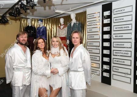 Members of Abba tribute band Fabbagirls - Rob Arnall, Susie Webb, Zoe Nicholas and Adrian Muckley