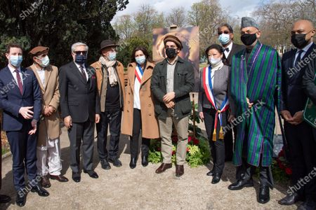 Editorial photo of Unveiling of plaque in honor of Afghan Commander Ahmad Shah Massoud, Paris, France - 27 Mar 2021