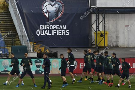 Italy national soccer team with training at Vasil Levski National stadium in Sofia, Bulgaria, 27 March 2021. Italy will face Bulgaria in their FIFA World Cup 2022  qualification group C soccer match on 28 March 2021