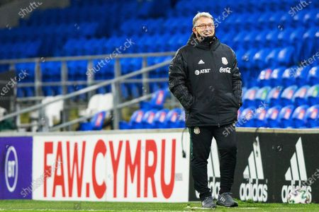 Mexico Manager Gerardo Martino smiles during the international friendly match between Wales and Mexico at the Cardiff City Stadium, Cardiff