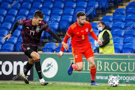 Wales forward Hal Robson-Kanu (9) during the international friendly match between Wales and Mexico at the Cardiff City Stadium, Cardiff