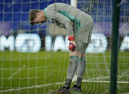 Wayne Hennessey of Wales during the international friendly match between Wales and Mexico in Cardiff, Britain, 27 March 2021.