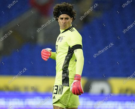 Goalkeeper Guillermo Ochoa of Mexico during the international friendly match between Wales and Mexico in Cardiff, Britain, 27 March 2021.