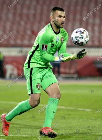 Portugal's goalkeeper Anthony Lopes in action during the FIFA World Cup 2022 qualifying soccer match between Serbia and Portugal in Belgrade, Serbia, 27 March 2021.