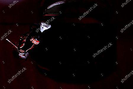 Philadelphia Flyers goaltender Brian Elliott in action during an NHL hockey game against the New York Rangers, in Philadelphia