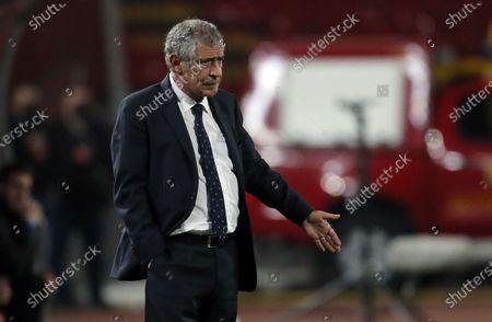 Portugal coach Fernando Santos gestures