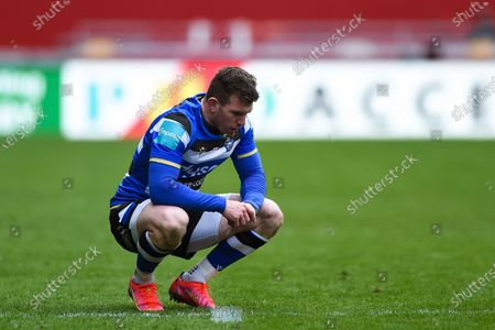 Ben Spencer of Bath Rugby looks on