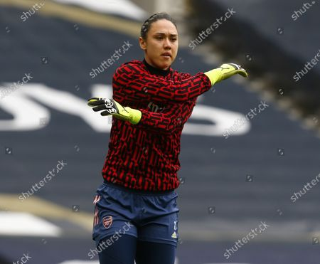 Manuela Zinsberger of Arsenal during  FA Women's Spur League betweenTottenham Hotspur and Arsenal Women  at Tottenham Hotspur Stadium , London , UK on 27th March 2021