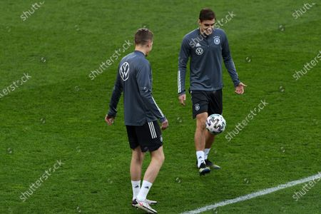 Florian Neuhaus during the official training of Germany's national soccer team before the World Cup qualifier in Romania, at National Arena Stadium, Bucharest 27 March 2021