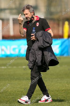 Maurizio Ganz coach of AC Milan during the Women Serie A match between FC Internazionale and AC Milan at Suning Youth Development Centre in memory of Giacinto Facchetti on March 28, 2021 in Milan, Italy.