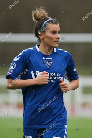 Stock Photo of Danielle Brown (#19 Durham) seen during the FA Women's Championship game between Durham and Sheffield United at Maiden Castle