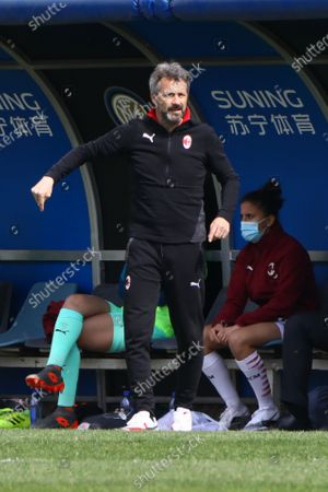 Maurizio Ganz in action during the  Women Serie A match between FC Internazionale and AC Milan at Suning Youth Development Centre in memory of Giacinto Facchetti on March 28, 2021 in Milan, Italy.