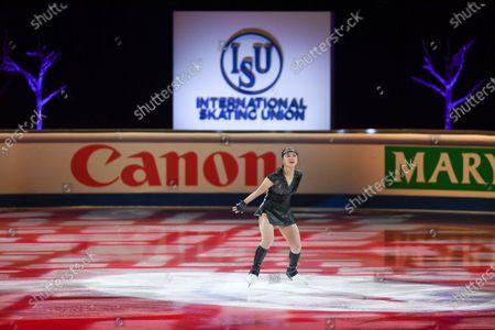 Kaori SAKAMOTO from Japan, during the Exhibition Gala at the ISU World Figure Skating Championships 2021 at Ericsson Globe in Stockholm, Sweden.