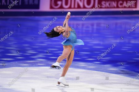 Karen CHEN USA, during the Exhibition Gala at the ISU World Figure Skating Championships 2021 at Ericsson Globe in Stockholm, Sweden.