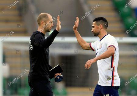 Editorial image of Northern Ireland United States Soccer Friendly, Belfast, United Kingdom - 28 Mar 2021