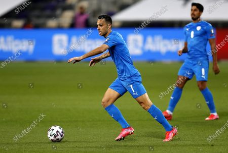Eran Zahavi of Israel in action during the FIFA World Cup 2022 qualifying soccer match between Israel and Scotland in Tel Aviv, Israel, 28 March 2021.