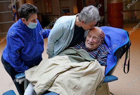 Editorial image of Virus Outbreak Nursing Home Visits, New York, United States - 28 Mar 2021