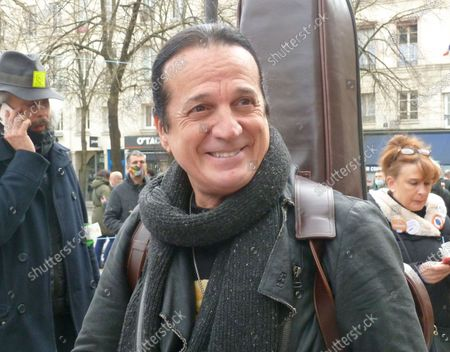 Editorial picture of Francis Lalanne out and about, Paris, France - 27 Mar 2021