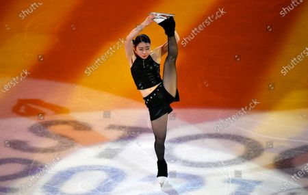 Rika Kihira of Japan performs during the Gala Exhibition at the Figure Skating World Championships in Stockholm, Sweden