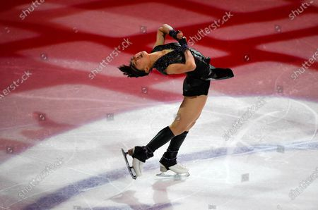 Kaori Sakamoto of Japan performs during the Gala Exhibition at the Figure Skating World Championships in Stockholm, Sweden
