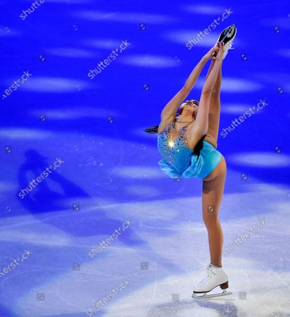 Karen Chen of the USA performs during the Gala Exhibition at the Figure Skating World Championships in Stockholm, Sweden