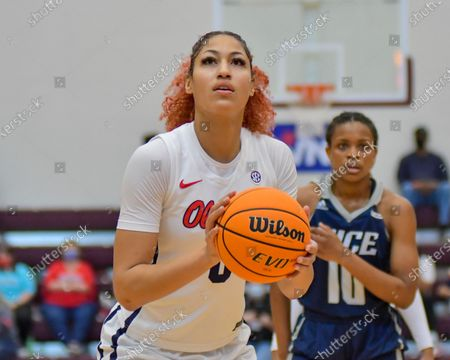 Ole' Miss forward, Shakira Austin (0), in action during the Women's NIT basketball championship game between the Ole' Miss Rebels and the Rice Owls in Memphis, TN. (Photo by: Kevin Langley/CSM)