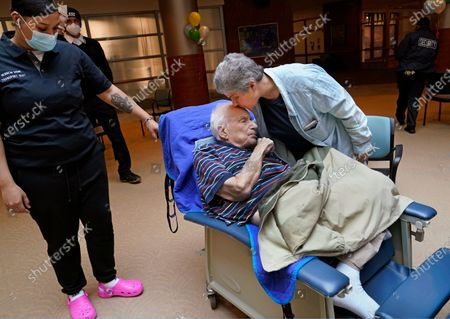 Editorial photo of Virus Outbreak Nursing Home Visits, New York, United States - 28 Mar 2021