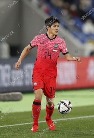 Stock Photo of Hong Chul (KOR) - Football / Soccer : International friendly match between Japan 3-0 South Korea at Nissan Stadium in Kanagawa, Japan.