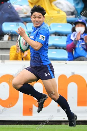 Koki Takeyama - Japan Rugby Top League 2021 match between Panasonic Wild Knights 62-5 NEC Green Rockets at Prince Chichibu Memorial Stadium