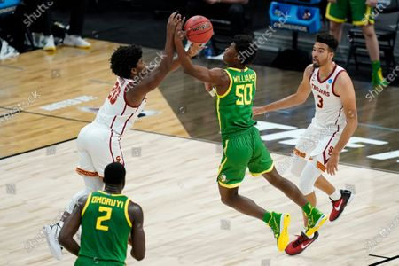 Editorial picture of NCAA Oregon USC Basketball, Indianapolis, United States - 28 Mar 2021