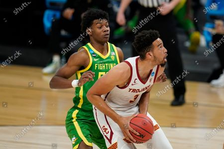 Editorial image of NCAA Oregon USC Basketball, Indianapolis, United States - 28 Mar 2021