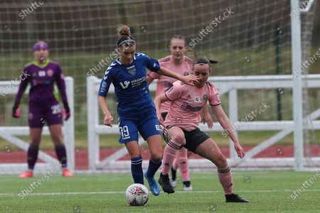 Danielle BROWN of Durham Women   during the FA Women's Championship match between Durham Women FC and Sheffield United at Maiden Castle, Durham City, England on 28th March 2021.