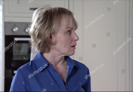 Stock Picture of Coronation Street - Ep 10287 & Ep 10288 Thursday 1st April 2021 Faye Windass hears that Ray has been charged with sexual assault but as she returns from her plea hearing, she's convinced she's going to prison. Also pictured Sally Metcalfe, as played by Sally Dynevor.