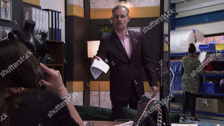 Stock Picture of Coronation Street - Ep 10293 Wednesday 7th April 2021 - 1st Ep When Nick Tilsley, as played by Ben Price, reminds her they've got a meeting with Lucas, Carla Connor, as played by Alison King, insists he'll have to go it alone as she's not prepared to jeopardise her relationship with Peter.