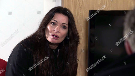 Stock Photo of Coronation Street - Ep 10298 Monday 12th April 2021 - 2nd Ep Daniel Osbourne voices his suspicions about Carla Connor, as played by Alison King, and how he reckons she's having an affair with Lucas.